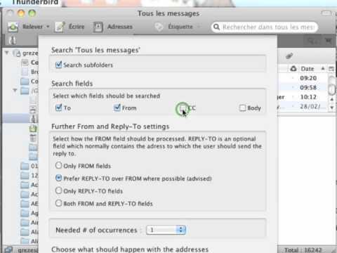 Extraction d'adresses emails dans une base de données version française