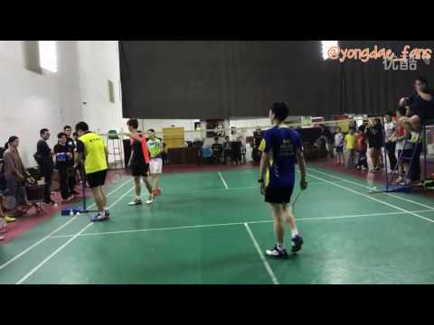 """[ReUpload] Lee yong dae 이용대 playing badminton with his fans """"YD Sport in China"""""""
