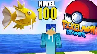 CAPTURO MAGIKARP NIVEL 100 😱😂 MUY CHETADO! | PIXELMON DIAMANTE MINECRAFT POKEMON MOD 1.10.2