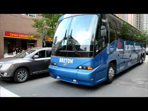 CANADIAN COACHES DRIVING IN MONTREAL