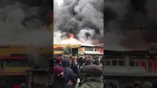 Бишкекте Ош базардын чекесиндеги имарат өрттөнүп кетти😑