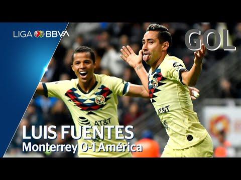 Gol de L. Fuentes | Monterrey 0 - 1 América | Liga BBVA MX - Jornada 7 - CL 2020