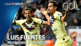 Gol de L. Fuentes   Monterrey 0 - 1 América   Liga BBVA MX - Jornada 7 - CL 2020