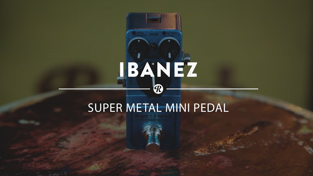 ibanez super metal mini pedal reverb demo video youtube