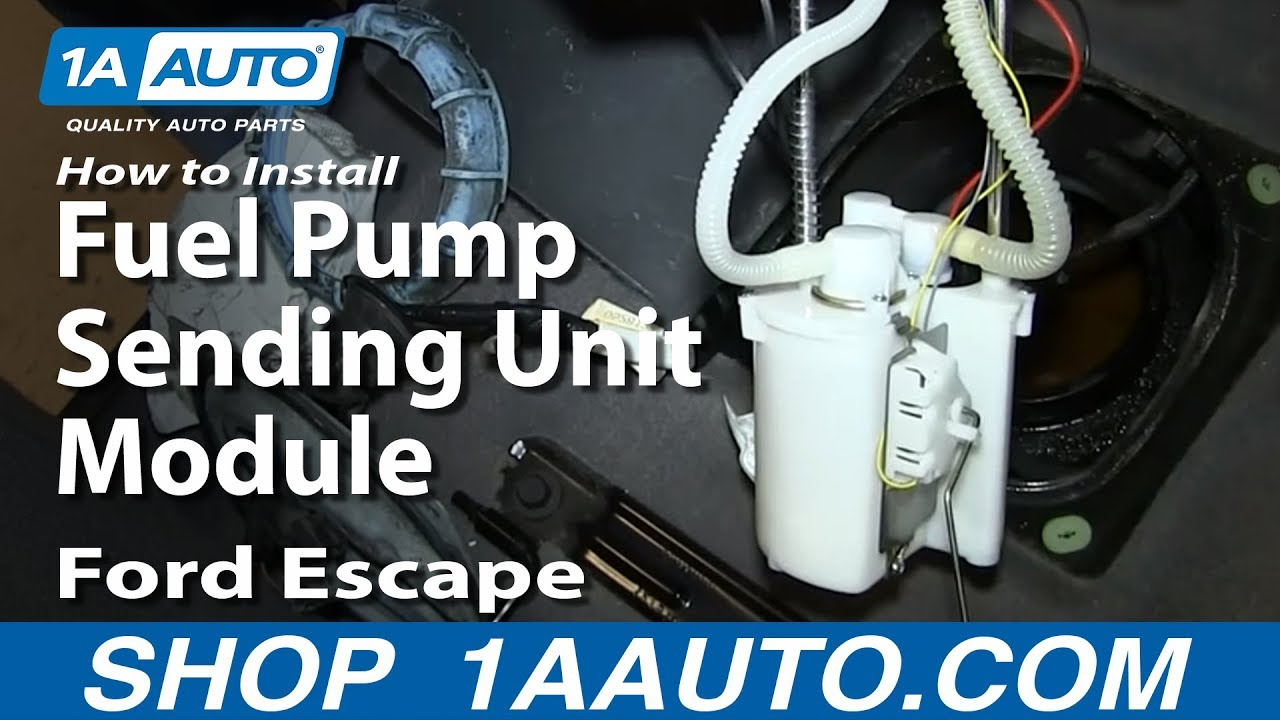 How To Install Replace Fuel Pump Sending Unit Module 2001 07 Ford Wiring Escape Mercury Mountaineer