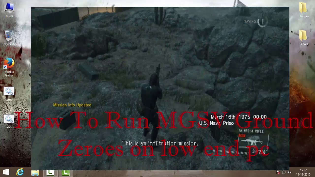 How To Run MGSV Ground Zeroes On Low End Pc