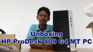 Unboxing HP ProDesk 400 G4 MT PC