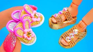 14 DIY Barbie Crafts and Hacks ~ Makeup, Phone, Shoes, and more