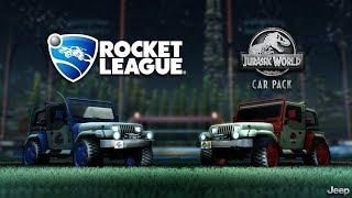 DE LA A-Z CON EL JEEP DE JURASSIC WORLD ~ Rocket League