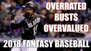 2018 Fantasy Baseball Busts Overvalued & Overrated Players
