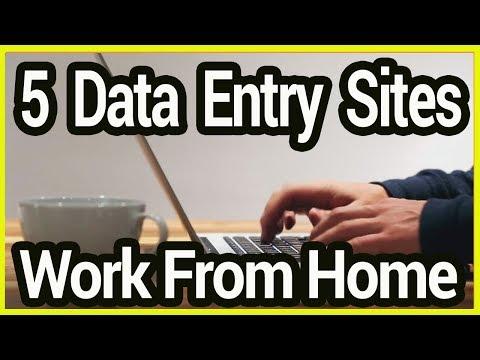 5 Data Entry Home Based Online Job Sites - Earn Money Online 2019