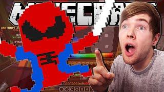 minecraft   spiderman   pixel painters minigame