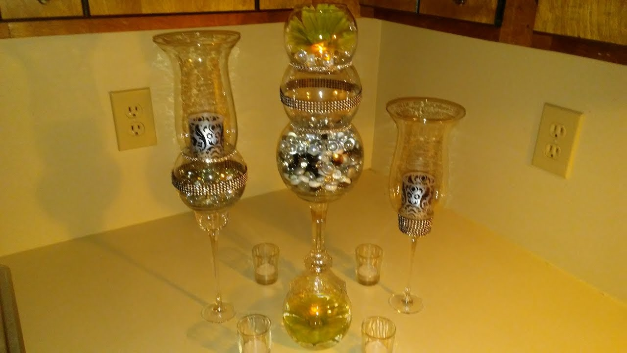 Diy dollar tree table center pieces youtube for Diy tree table
