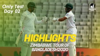 Highlights | Bangladesh vs Zimbabwe | Only Test | Day 2 | Zimbabwe tour of Bangladesh 2020