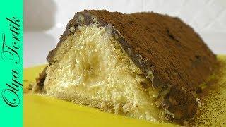 Творожный торт Домик без выпечки Подробный рецепт