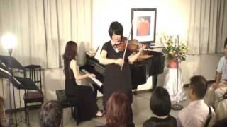 ヴァイオリン 佐藤仁美(九州交響楽団) ピアノ 早川恵美 モンティー作 ...