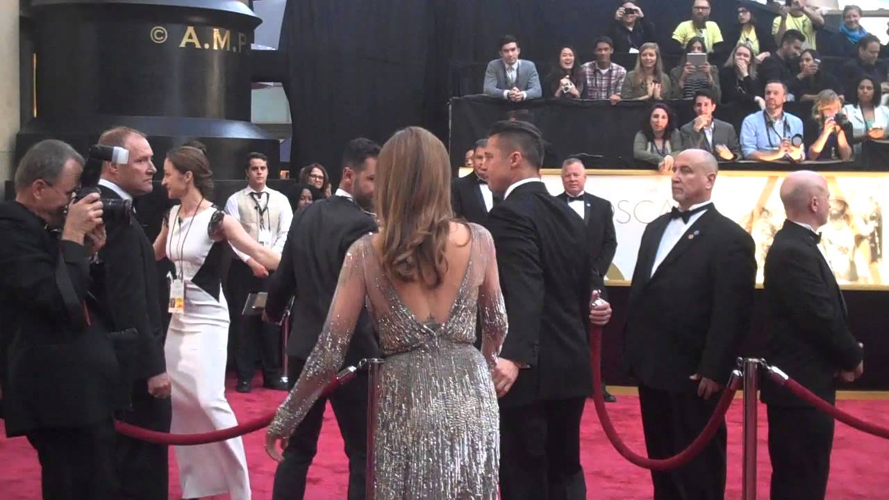 oscar red carpet 2014 brad pitt and angelina jolie