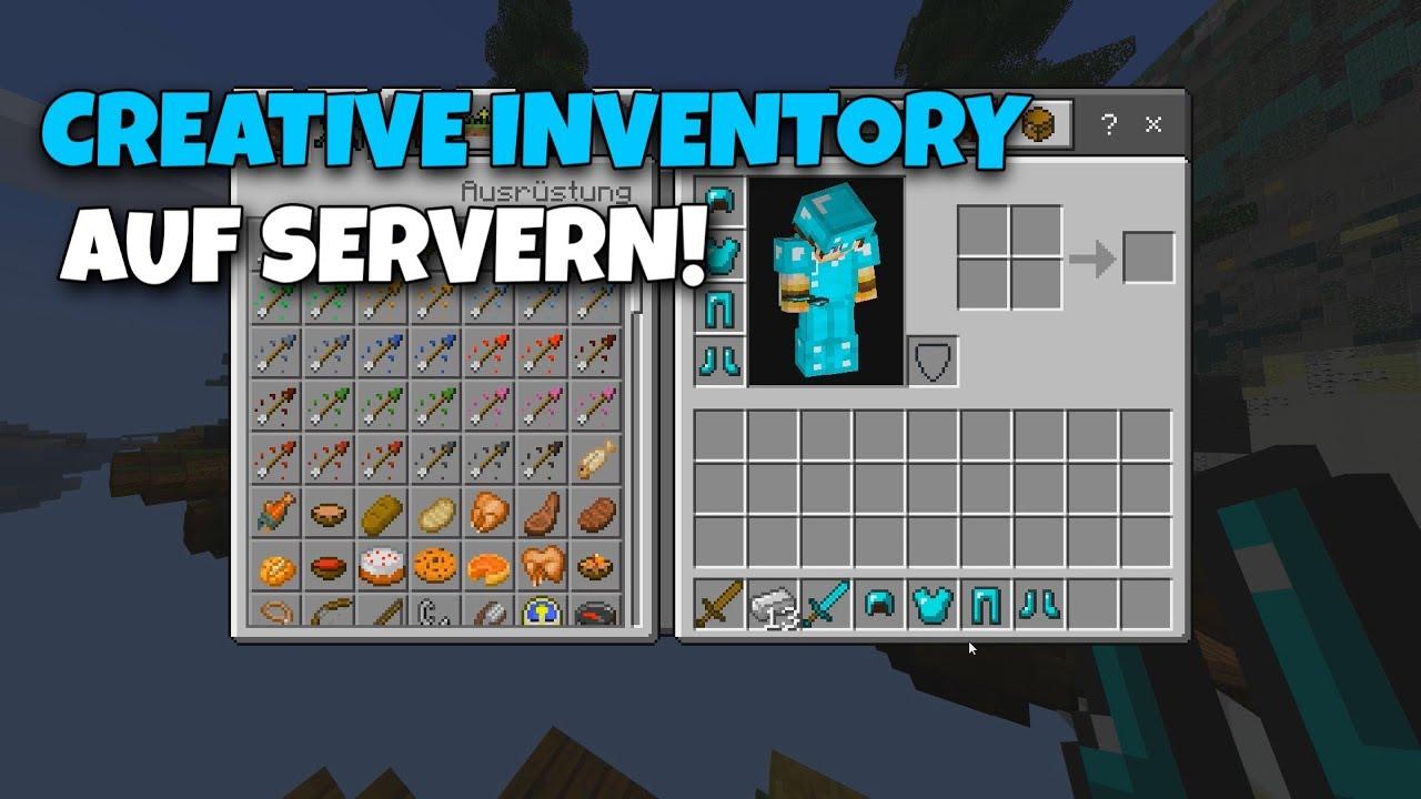 Let's Hack Minecraft Windows 10/PE - CREATIVE INVENTORY AUF SERVERN!