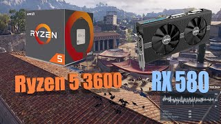 Ryzen 5 3600 + RX 580 4gb Latest Drivers at 1440p(QHD)Ultra Settings in 2020 |FPS Benchmark|10 Games