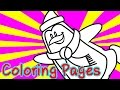3D Penguin Coloring Pages for Kids Coloring Games - For Free Coloring Book and Augmented Reality