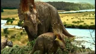 Трейлер мультфильма Прогулки с динозаврами на английском языке.