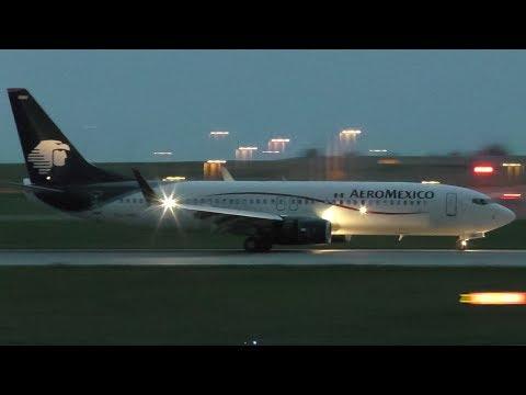 Inaugural Flight! Aeroméxico 737-852 [XA-AMU] Landing at Calgary Airport ᴴᴰ