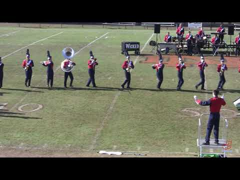 East Rowan High School Marching Mustangs at North Davidson 11/2/2019