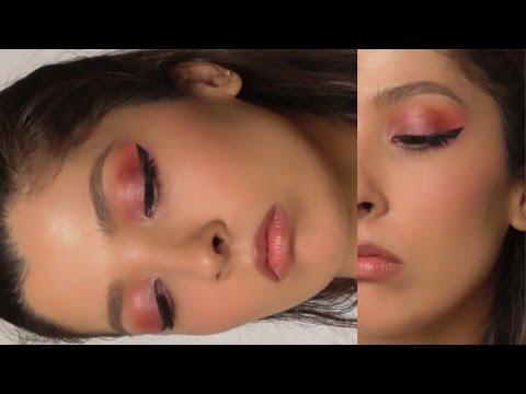 Макияж с красными тенями   Red eye shadow makeup tutorial   TsovkaMode