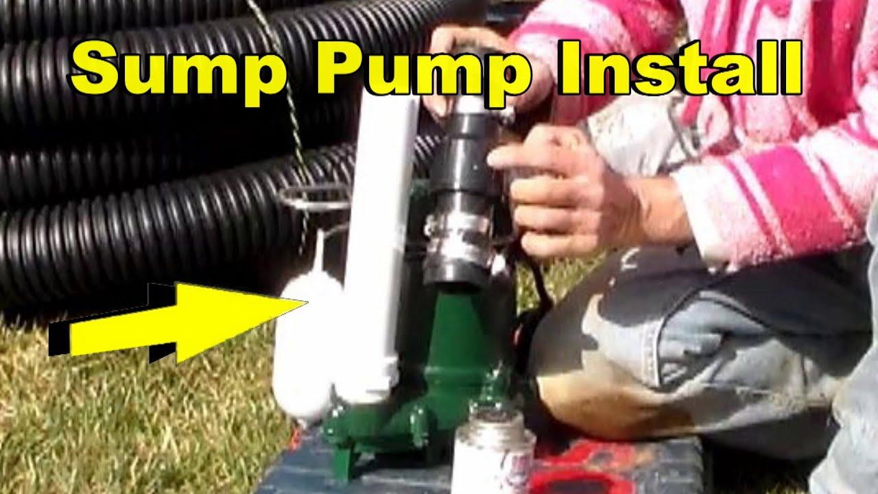 sump pump set up zoeller m53 [ 1280 x 720 Pixel ]