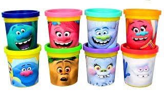 Dreamworks Trolls Play Doh Can Heads Surprise Toys Trolls Blind Bags Surprise Eggs & Play Doh Mo
