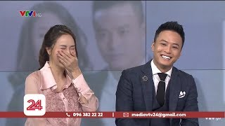 """Gặp gỡ hai diễn viên Hồng Đăng, Hồng Diễm phim """"Hoa hồng trên ngực trái""""   VTV24"""
