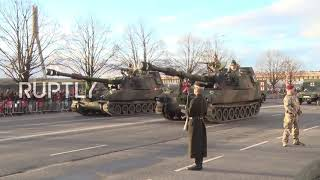 Latvia: Military parade celebrates Latvian 100th Independence Day anniversary