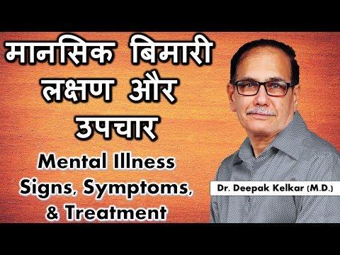 Mental Illness Signs Symptoms  & Treatment - मानसिक बिमारी लक्षण और उपचार Motivational- Dr. Kelkar