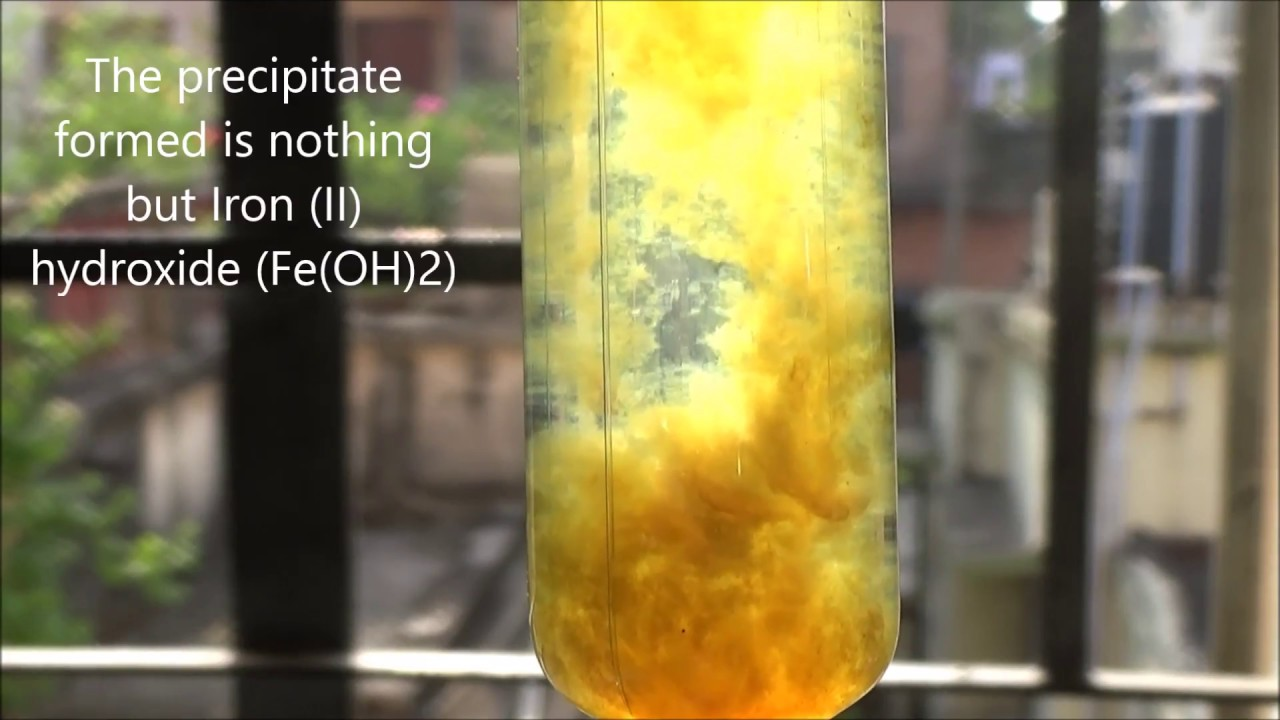 Reaction Of Iron Ii Sulphate Feso4 With Sodium Hydroxide Naoh
