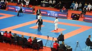 ECh 2016, kumite male -60 Kg elimination, Gomez ESP vs Dasoul BEL