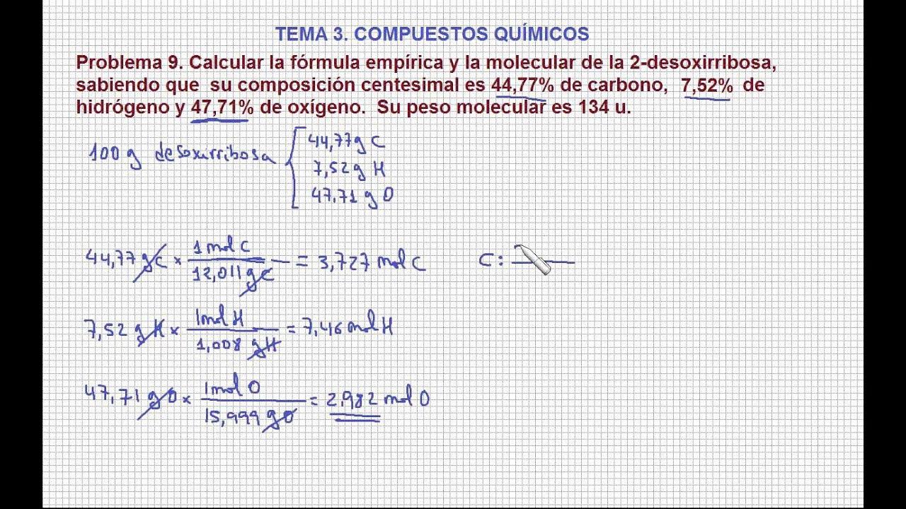 Único EmpÃrica Y Molecular Fórmula De Hoja De 6 10 Colección de ...