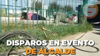 Disparos causan pánico en evento de alcalde de Nuevo Laredo #Tamaulipas