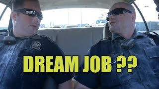 Probably the last time the boss let's Officer Daniels and I ride to...