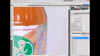 Обработка фото бутылки сока