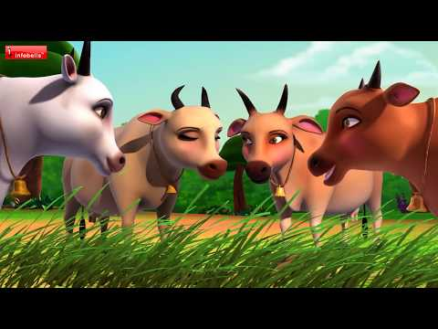 The Tiger and the Cows | Hindi Stories for Kids | Infobells