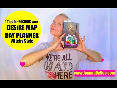 5 Kickass Tips For ROCKiNG Your Desire Map Day Planner Witchy Style... Danielle Laporte's Desire Map