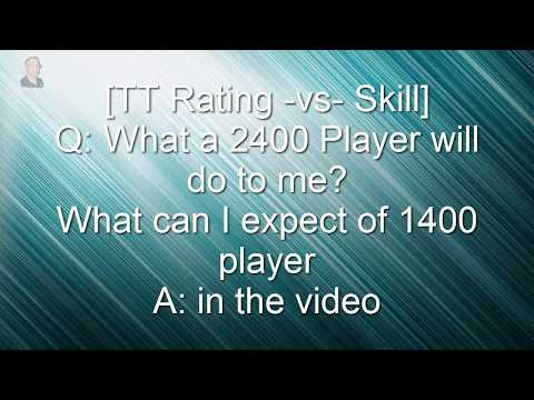 [TT Rating] Rating -vs- skill Summary, What to expect from 2400 player,  see notes USATT coach