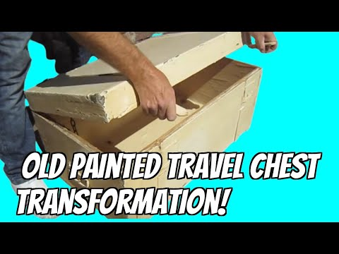 "old junk travel trunk ""industrial style"" makeover"