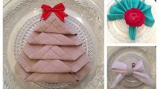 Três maneiras de dobrar guardanapo