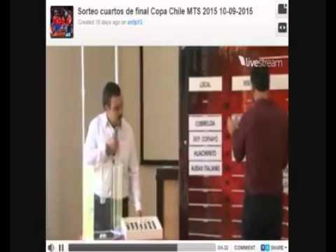 """La verdad de la ANFP, """"sorteo"""" cuartos de final Copa Chile 2015 (VIDEO CENSURADO)"""