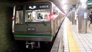 【大阪市メトロ】中央線24系24604F 生駒行き@本町