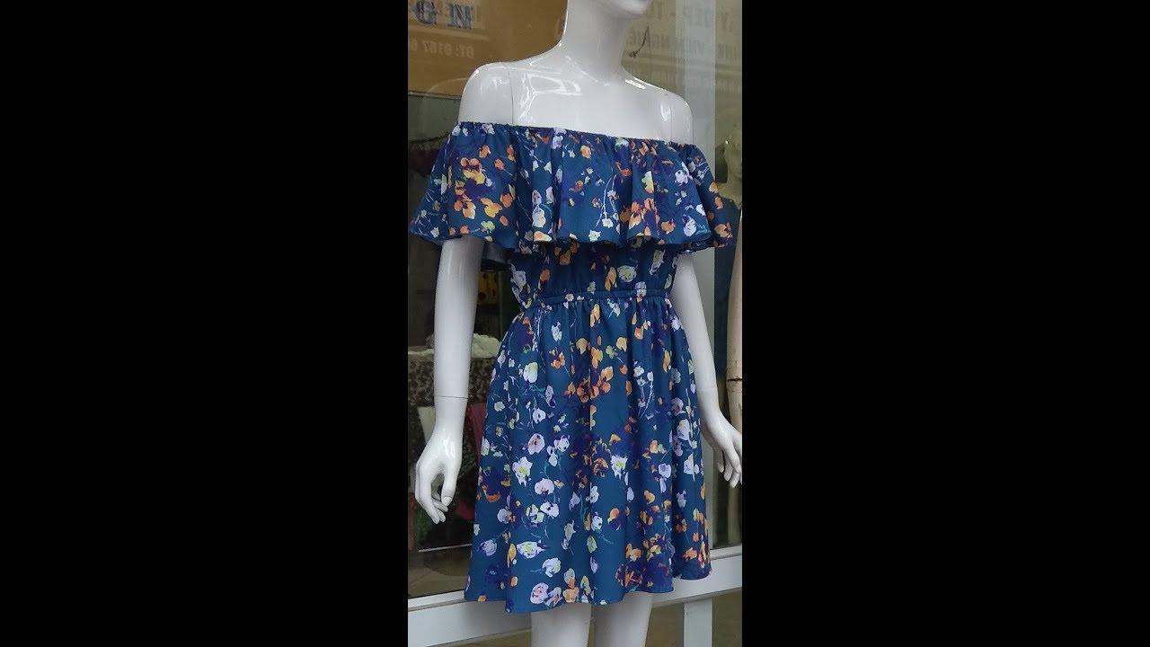 Hướng dẫn cắt đầm trễ vai, chun ngực chun tay.  How to cut dresses.