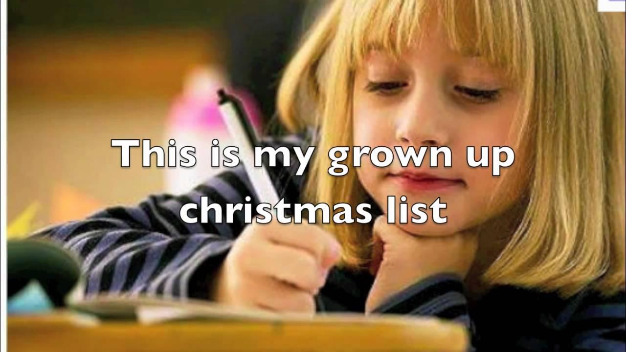 my grown up christmas list - by kelly clarkson lyrics - YouTube