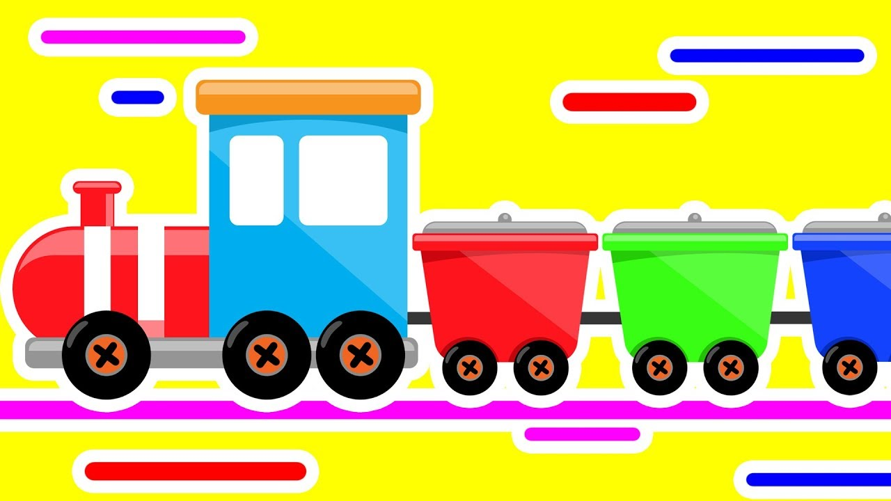 Colors for Children to Learn with Train and Bowling  #h ❤️ Colours Videos Collection for Children - YouTube