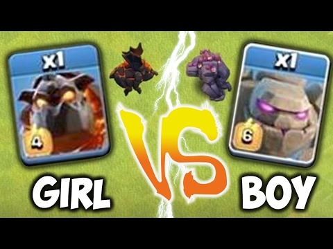 Thumbnail: WHO IS STRONGER!?!🔸BOY vs. GIRL GENDER WAR🔸Clash Of Clans